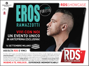 RDS media partner dell'Eros World Tour 2015