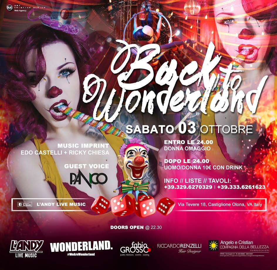 Back to Wonderland - Sabato 3 ottobre 2015