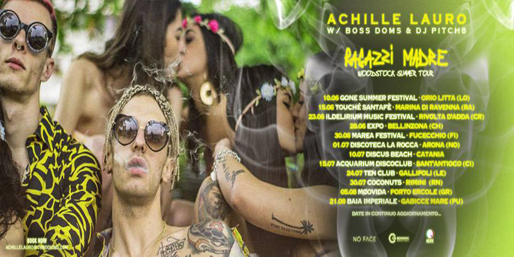 Achille Lauro tour cover