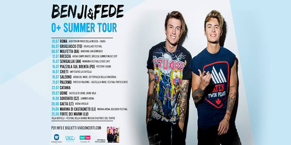 Benji e Fede cover tour 2017