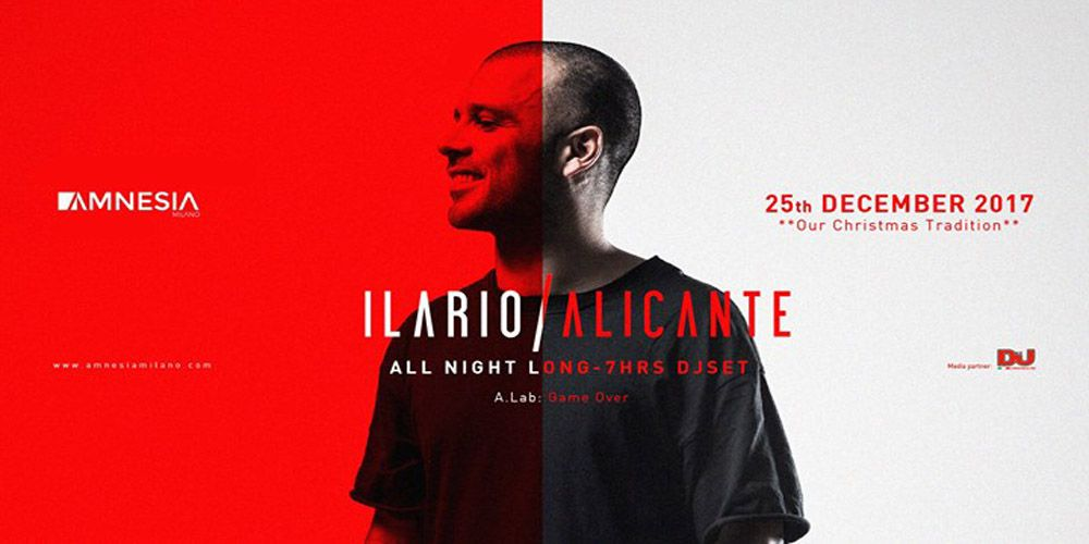 Ilario Alicante evento all'Amnesia Milano