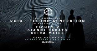 16 marzo VOID presenta Techno Generation all'Amnesia Milano
