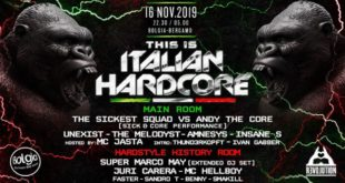 16 novembre This is Italian Hardcore at Bolgia – Bergamo